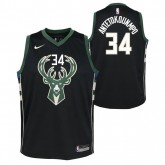 Maillot NBA Enfant Giannis Antetokounmpo Milwaukee Bucks Swingman Statement Noir Soldes Provence