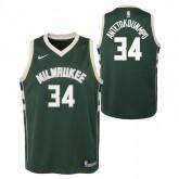 Acheter des Nouveau Maillot NBA Enfant Giannis Antetokounmpo Milwaukee Bucks Swingman Vert