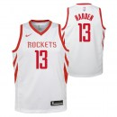 Maillot NBA Enfant James Harden Houston Rockets Swingman association Blanc Remise prix