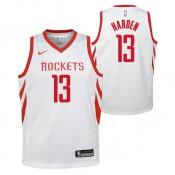 Maillot NBA Enfant James Harden Houston Rockets Swingman association Blanc Remise prix