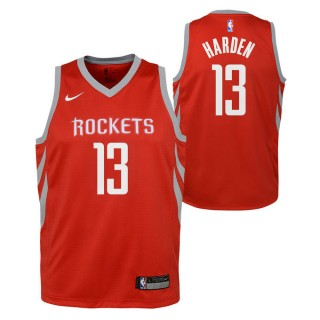 Rabais Maillot NBA Enfant James Harden Swingman Icon Rouge