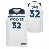 Maillot NBA Enfant Karl Anthony Towns Minesota Timberwolves Association Swingman Bleu au Meilleur Prix