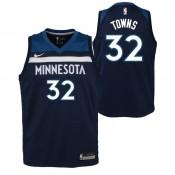 Officielle Maillot NBA Enfant Karl-Anthony Towns Minnesota Timberwolves Swingman Icon Bleu