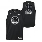 Maillot NBA Enfant Kevin Durant All Star Warriors Swingman Jordan Noir Bonnes Affaires