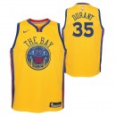 Nouvelle Collection Maillot NBA Enfant Kevin Durant City Edition GS Warriors Swingman Jaune