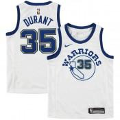 Maillot NBA Enfant Kevin Durant Warriors Swingman Hardwood Classic Blanc Original