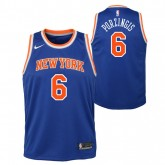 Maillot NBA Enfant Kristaps Porzingis NY Knicks Swingman Icon Bleu France Métropolitaine