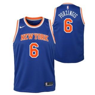 Maillot NBA Enfant Kristaps Porzingis NY Knicks Swingman Icon Bleu France Métropolitaine