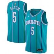 Collection Maillot NBA Enfant Nicolas Batum Charlotte Hornets Hardwood Classic Swingman Jordan Bleu Soldes