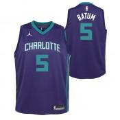 Maillot NBA Enfant Nicolas Batum Charlotte Hornets Swingman Statement Bleu Rabais en ligne