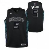 Maillot NBA Enfant Nicolas Batum City Edition Charlotte Hornets Swingman Jordan Noir Nouvelle