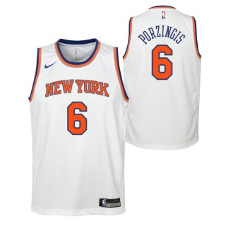 Nouveau Maillot NBA Enfant Porzingis Kristaps NY Knicks Swingman Association Blanc