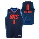 Maillot NBA Enfant Russel Westbrook OKC Thunder Swingman Statement Bleu Vendre Marseille