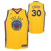 Maillot NBA Enfant Stephen Curry City Edition Warriors Swingman Jaune Remise Lyon