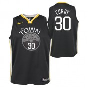Site Maillot NBA Enfant Stephen Curry GS Warriors Swingman Statement Gris