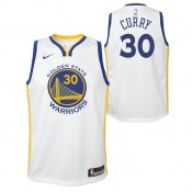 Maillot NBA Enfant Stephen Curry Warriors Swingman Association Blanc la Vente à Bas Prix