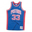 Maillot NBA Grant Hill Detroit Pistons 1995-96 33 Swingman Mitchell&Ness Bleu Boutique