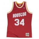 Nouvelle Collection Maillot NBA Hakeem Olajuwon Houston Rockets 1993-94 Road Swingman Mitchell&Ness Rouge