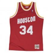 Nouvelle Collection Maillot NBA Hakeem Olajuwon Houston Rockets 1993-94 Road Swingman Mitchell&Ness Rouge