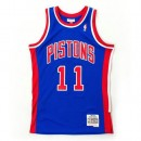 Maillot NBA Isiah Thomas Detroit Pistons Swingman Mitchell&Ness Bleu Officiel