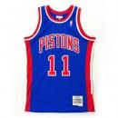 Maillot NBA Isiah Thomas Detroit Pistons Swingman Mitchell&Ness Bleu Officiel