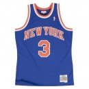 Maillot NBA John Starks New-York Knicks 1991-92 Swingman Mitchell&Ness Bleu Soldes Marseille