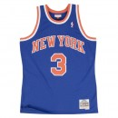 Maillot NBA John Starks New-York Knicks 1991-92 Swingman Mitchell&Ness Royal Bleu Commerce De Gros
