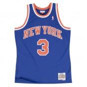 Maillot NBA John Starks New-York Knicks 1991-92 Swingman Mitchell&Ness Royal Bleu Commerce De Gros