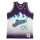 Maillot NBA John Stockton Utah Jazz 1996-97 Swingman Mitchell&Ness Violet Escompte En Lgine
