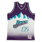 Maillot NBA John Stockton Utah Jazz 1996-97 Swingman Mitchell&Ness Violet Escompte En Lgine
