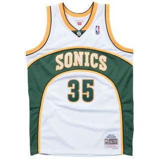 Maillot NBA Kevin Durant Seattle Supersonics 2007-08 Swingman Mitchell&Ness Domicile Blanc Prix France