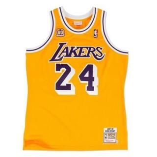 Acheter Nouveau Maillot NBA Kobe Bryant Los Angeles Lakers 2007-08 Authentic Jersey Domicile Jaune En Ligne