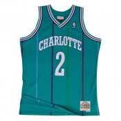 Maillot NBA Larry Johnson Charlotte Hornets 1992-93 Swingman Mitchell&Ness Bleu Promos Code