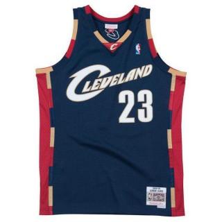 Maillot NBA LeBron James Cleveland Cavaliers 2008-09 Swingman Mitchell&Ness Bleu Soldes