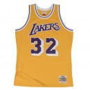 Maillot NBA Magic Johnson LA Lakers 1984-85 Swingman Mitchell&Ness Jaune France Métropolitaine
