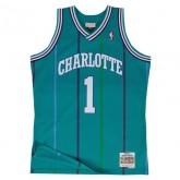 Maillot NBA Muggsy Bogues Charlotte Hornets 1992-93 Swingman Mitchell&Ness Bleu Réduction