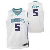 Maillot NBA Nicolas Batum Charlotte Hornets Swingman Association Jordan Blanc Remise Paris en ligne