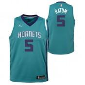 Authentique Maillot NBA Nicolas Batum Charlotte Hornets Swingman Icon Jordan Bleu