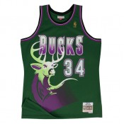 Maillot NBA Ray Allen Milwaukee Bucks 1996-97 Swingman Mitchell&Ness Vert Vendre Provence