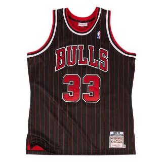 Vente Privée Maillot NBA Scottie Pippen Chicago Bulls 1995-96 Authentic Mitchell&Ness Noir