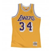 Site Maillot NBA Shaquille Oneal LA Lakers 1996-97 Swingman Mitchell&Ness Jaune