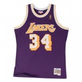 Maillot NBA Shaquille Oneal LA Lakers 1996-97 Swingman Mitchell&Ness Violet Remise prix