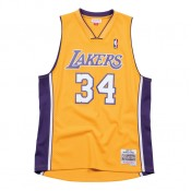 Collection Maillot NBA Shaquille Oneal LA Lakers 1999-00 Swingman Mitchell&Ness Domicile Jaune Soldes