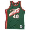 Maillot NBA Shawn Kemp Seattle Supersonics 1995-96 Swingman Mitchell&Ness Vert Soldes Paris