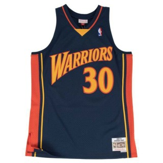 Maillot NBA Stephen Curry Golden State Warriors 2009-10 Swingman Mitchell&Ness Bleu PasCher Fr