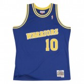Mode Maillot NBA Tim Hardaway Warriors 1990-91 Swingman Mitchell&Ness Bleu