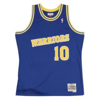 Mode Maillot NBA Tim Hardaway Warriors 1990-91 Swingman Mitchell&Ness Bleu