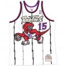 Maillot NBA Vince Carter Toronto Raptors 1998-99 Swingman Mitchell&Ness Blanc Pas Chere