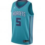 Acheter Maillot Nicolas Batum Charlotte Hornets Jordan Icon Edition Swingman Bleu