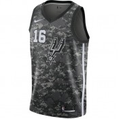 La Collection 2018 Maillot Pau Gasol City Edition Swingman (san Antonio Spurs) Noir